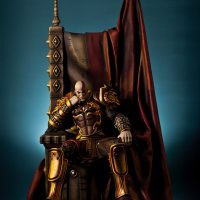 God of War Kratos on Throne Statue main