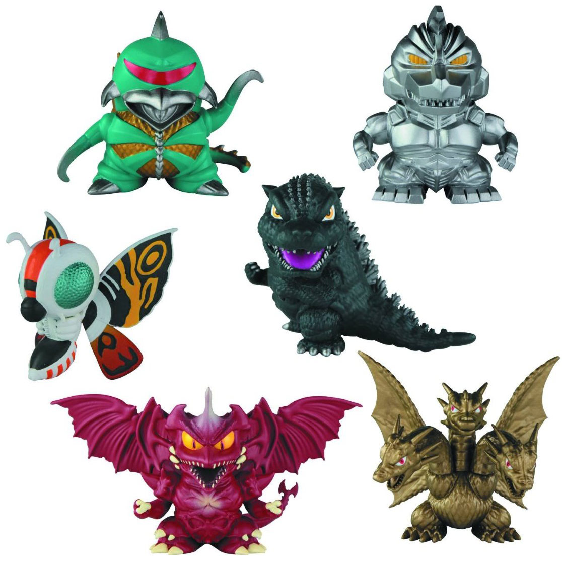 Godzilla Chibi Super Deformed Mini Figure 6 Pack
