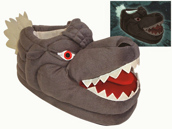 Godzilla Glow-in-the-Dark Slippers