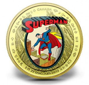 Gold Canadian Superman Coin
