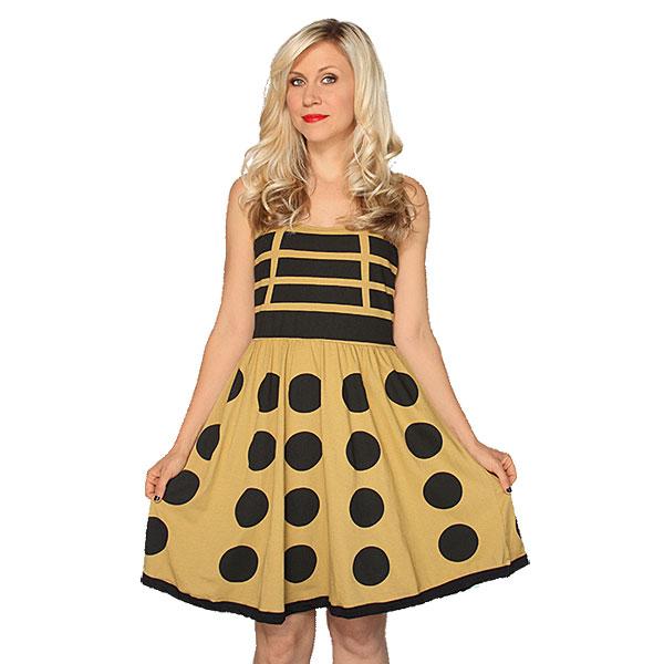Gold Dalek A-Line Dress