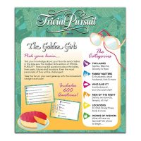 Golden Girls Trivial Pursuit Box Back