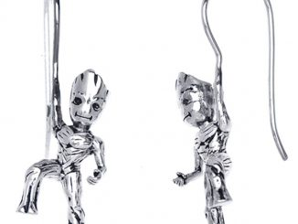 GotG Sterling Climbing Groot Earrings