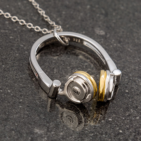 GotG Sterling & Enamel Headphones Pendant Necklace
