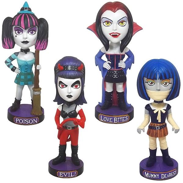 Goth Halloween Bobble Head Dolls Super Bundle
