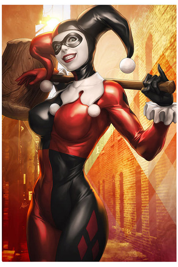 Gotham Sirens Harley Quinn Premium Art Print