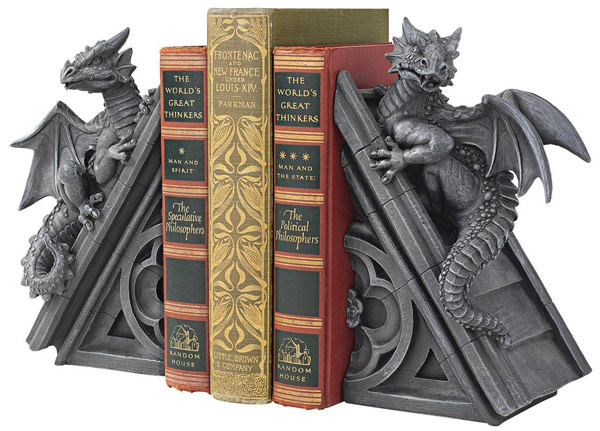 Gothic-Castle-Dragons-Sculptural-Bookends