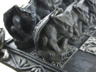 Gothic Dragon And Gargoyle Chess Set
