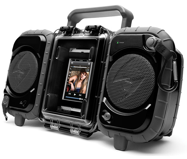 Grace Digital ECO TERRA Waterproof Boombox Case