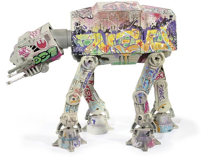 Graffiti Star Wars AT AT