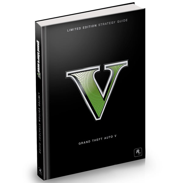 Grand Theft Auto V Limited Edition Strategy Guide Hardcover Book