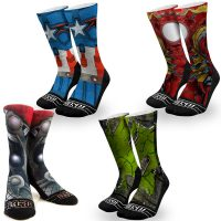 Graphic Rock Em Avenger Socks
