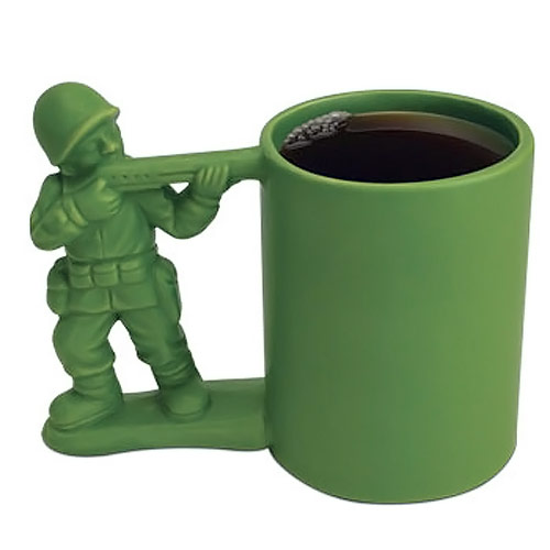 Green Army Guy Mug