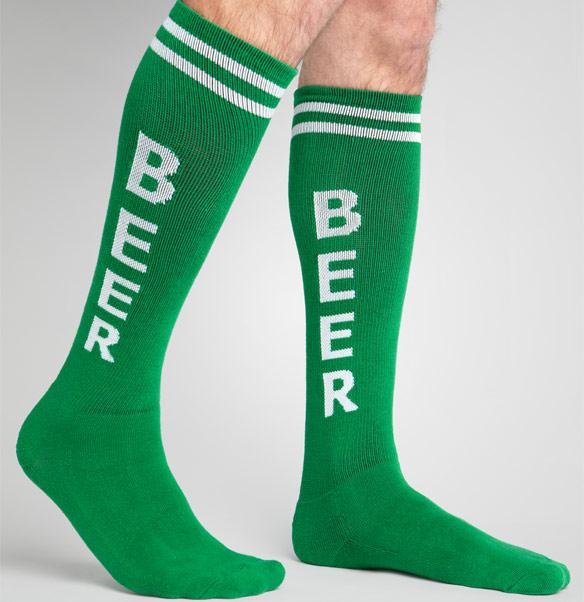 Green Beer Socks
