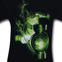 Green Lantern Charging Ring T-Shirt Detail