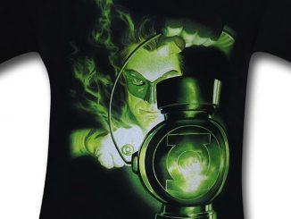 Green Lantern Charging Ring T-Shirt Detail
