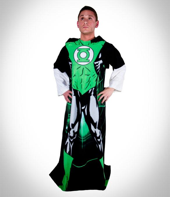 Green Lantern Fleece Cozy Blanket with Sleeves