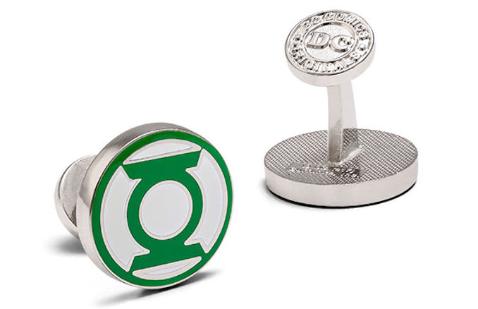 Green Lantern Glow-In-The-Dark Cufflinks