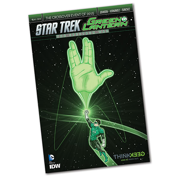 Green Lantern  Star Trek Crossover 1 Exclusive Variant Cover