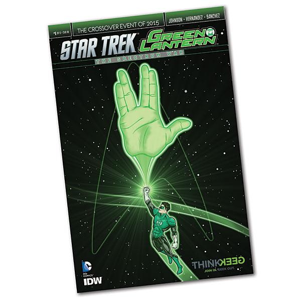Green Lantern  Star Trek Crossover 1 Exclusive Variant Cover