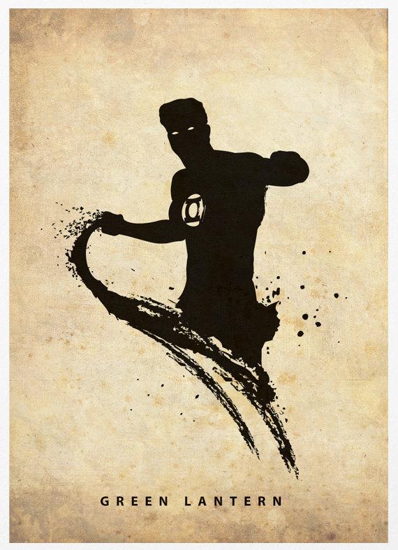 Superhero Silhouette Poster Set
