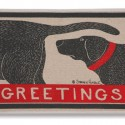 Greetings Dog Sniffing Doormat