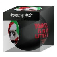 Grumpy Cat Your Gift Is in the Litter Box Holiday Ball Ornament