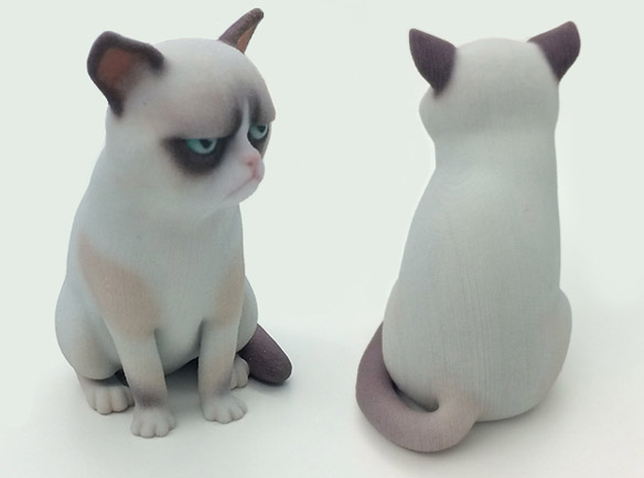 Grumpy Cat Sandstone Statue