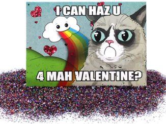 Grumpy Cat Valentine Glitter Bomb