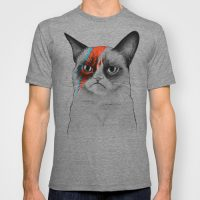 Grumpy Cat as Bowie Mens TShirt