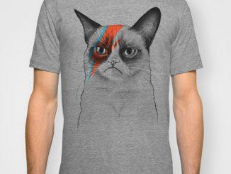 Grumpy Cat as Bowie Mens TShirt