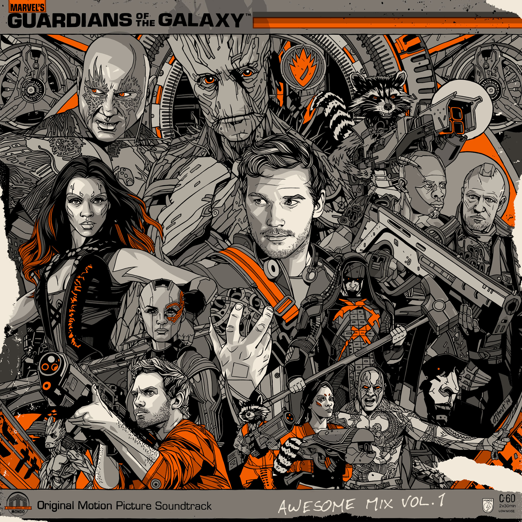 Guardians Of The Galaxy Awesome Mix Vol 1 Deluxe Vinyl Lp