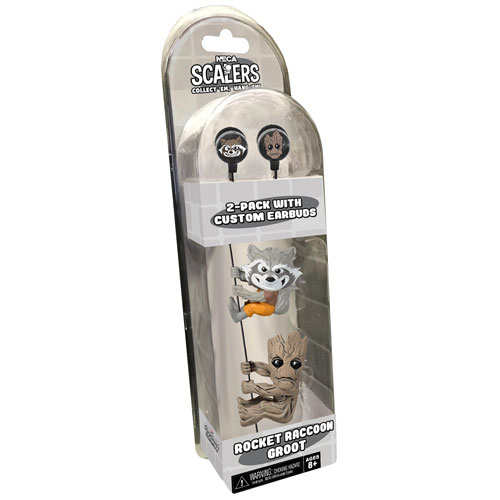 Guardians of the Galaxy Groot and Rocket Raccoon 2-Inch Scalers Ear Bud Headphones