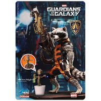Guardians of the Galaxy Rocket Raccoon with Baby Groot Action Hero Vignette 1 9 Scale Pre-Assembled Model Kit