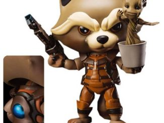 Guardians of the Galaxy Rocket Raccoon with Groot Egg Attack Action Figure