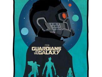 Guardians of the Galaxy Silhouette Team Fleece Throw Blanket