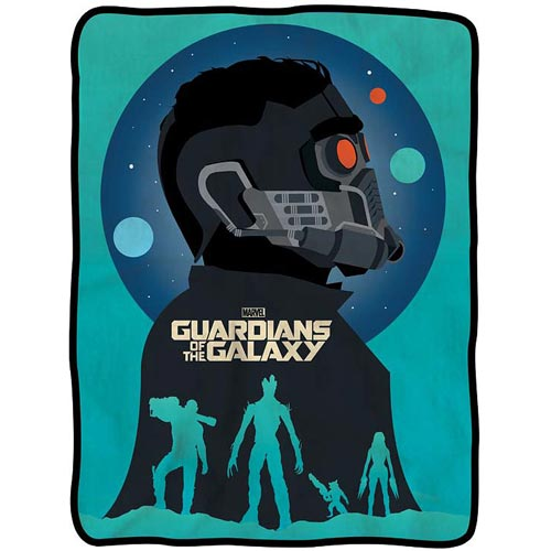 Guardians of the Galaxy Silhouette Team Fleece Throw Blanket