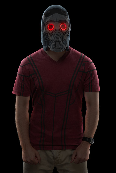 Guardians of the Galaxy Star-Lord Hooded T-Shirt with LED Mask