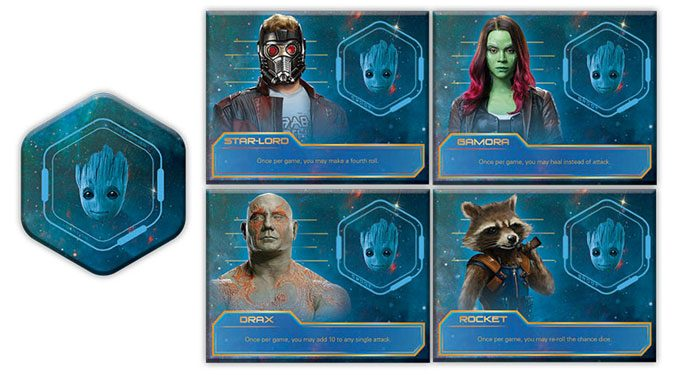 Guardians of the Galaxy Volume 2 Yahtzee Game