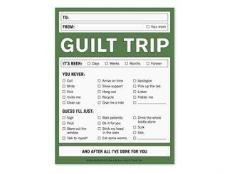 Guilt Trip Notepad