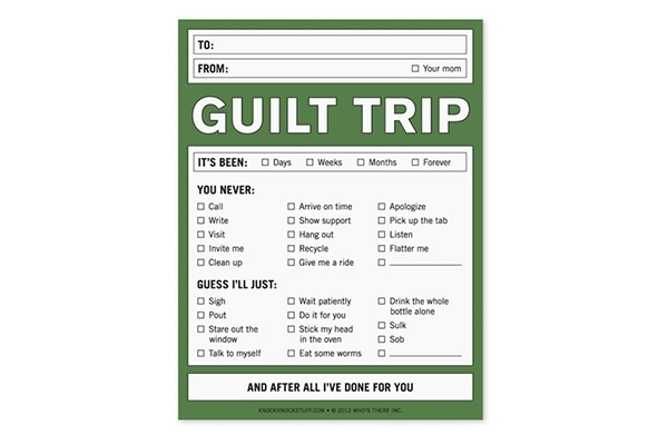 Guilt Trip Notepad