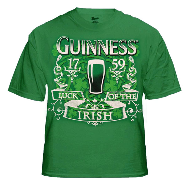 Guinness Beer Luck of the Irish T-Shirt