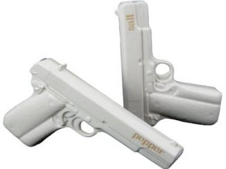 Gun Salt and Pepper Shakers