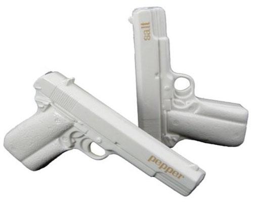 Gun Salt and Pepper Shakers