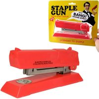 Gun Shaped Stapler with Bang Sound Effect