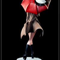Gwen Stacy Polystone Statue with Spider Man Umbrella