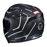 HJC Black Panther Motorcycle Helmet