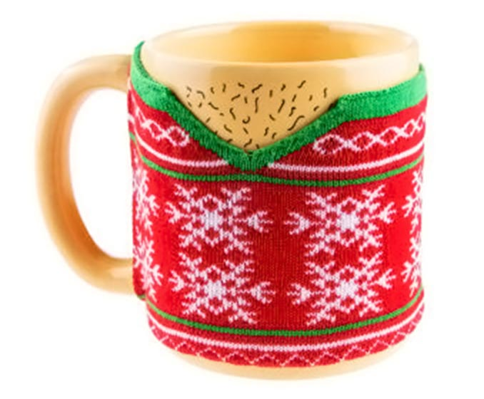 Hairy Chest Ugly Sweater Mug