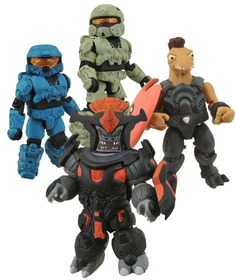 Halo 2 Inch Tall Minimates Set from Diamond Select