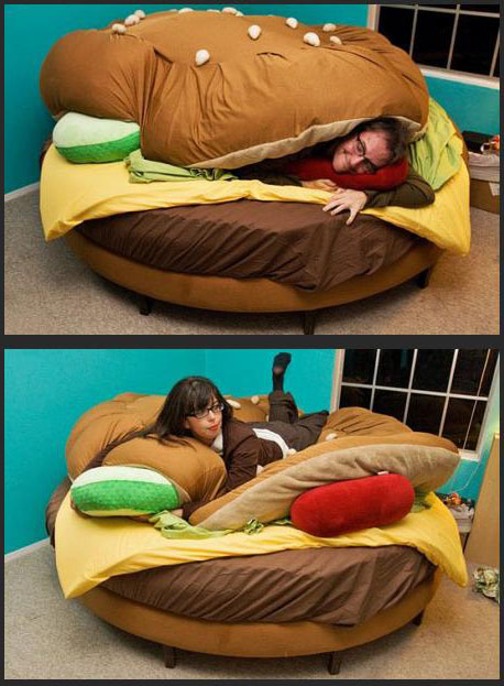 Hamburger Designed Bed